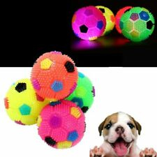 Interactive Squeak Dog Toys Pets Flashing Football Training Cat Ball Puppy Chew