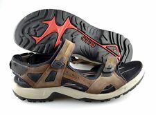 R - Men's ECCO 'Yucatan' Brown Leather Sandals Size US 14 EUR 48