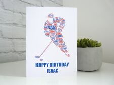 Ice Hockey Personalised Birthday Card