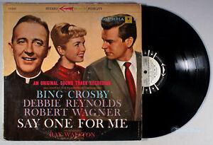 Say One For Me (1959) Vinyl LP • PROMO Soundtrack, Bing Crosby, Debbie Reynolds