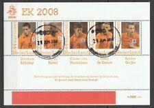 Nederland NVPH 2562 E1 Vel Persoonlijke zegels Voetbal EK 2008 Gestempeld