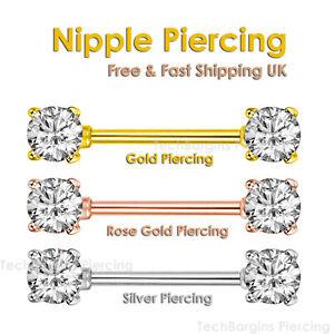 Fashion Crystal Bar Rhinestone Sexy Piercing Nipple Bars Barbell Body Jewelry UK