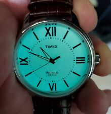 Vintage Timex Indiglo Men's Wrist Watch Leather Band