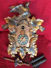 Antique Forestville Clock Co USA German Black Forest Carved Cuckoo Clock