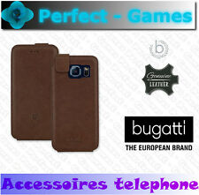 Samsung galaxy S6 BUGATTI coque etui flipcase cuir véritable genuine leather
