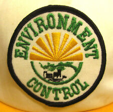 ENVIRONMENT CONTROL trucker cap vtg embroidery patch hat commercial cleaning