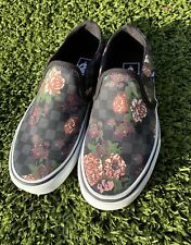 Vans Asker Floral Checkerboard Slip-On Sneaker