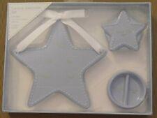 Stepping Stones Baby'S Ceramic Keepsake Set~Announcement Plaque & Trinket Box