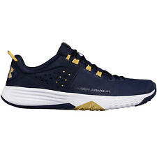 Under Armour Mens Bam Lace Up Sports Training Fitness Trainers Shoes - Navy