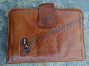 ANTIQUE NOUVEAU LEATHER BAG ~ EMBOSSED DESIGNS ~ LEATHER INSIDE & OUT