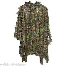 3D Camo Bionic Leaf Camouflage Jungle Hunting Ghillie Suit Set Poncho Manteau