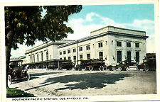 """CA Los Angeles """"Southern Pacific Station""""  Used White-border Van Noy Co Postcard"""