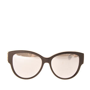 RRP €310 SAINT LAURENT Butterfly Sunglasses YSL Logo Mirrored Made in Italy