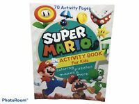 Super Mario Activity Book for Kids: Coloring, Mazes, Puzzles (Paperback)