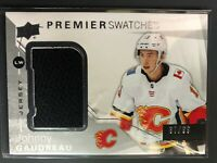 2018-19 UD Premier Swatches Johnny Gaudreau Calgary Flames Jersey /99