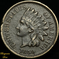 1859 Indian Head Penny 1c 081120-03E Free Shipping!