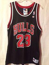 Vintage NWT Michael Jordan Chicago Bulls Black #23 Champion Jersey Size 44