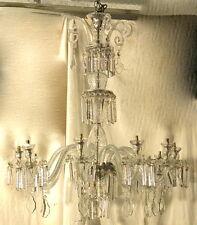 1890' Lustre en Cristal de Bohéme 10 Bras de Lumière H: 106 cm
