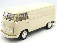 VW VOLKSWAGEN T1 FOURGON TOLE BEIGE 1963  WELLY 1/18 FE17SP