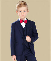 Boy's Groom Wedding Suit Children Custom Size Party Formal Tuxedos Flower Dress