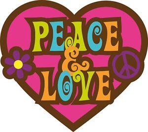 "3"" Cute Hippy Peace Love Hippie Boho Heart Psychedelic Cool Sticker"