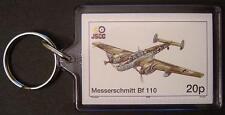 Luftwaffe MESSERSCHMITT Bf-110 Fighter Zerstörer WWII Aircraft Stamp Keyring