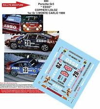 DECALS 1/43 REF 600 PORSCHE 911 COPPIER RALLYE MONTE CARLO 1980 RALLY ESSO