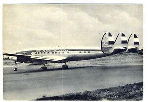 KLM Royal Dutch Airlines Lockheed Super Constellation L1049G  Postcard