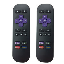 2PCS Replaced Remote for Roku 1 2 3 LT HD XD XS XDS w MGO Netfilx amazon App key