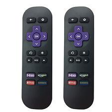 2PCS Replaced Remote for Roku 1 2 3 LT HD XD XS XDS w MGO Netfilx amazon App key