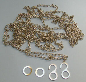 New Regula 8-Day #34 Cuckoo Clock Chain with Hooks & Rings - Brass or Antique!
