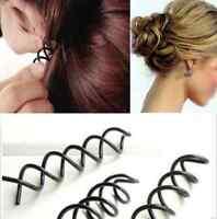 Screw Spiral Spin Bobby Pin Hair Clip Twist Barrette Gold Brown Black 10pcs