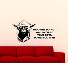 Jedi Master Yoda Wall Decal Star Wars Quote Vinyl Sticker Art Decor Mural 5sw