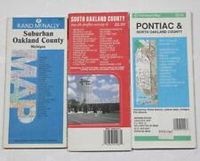Lot of 3 Michigan Maps Pontiac North South & Suburban Oakland County 1990's