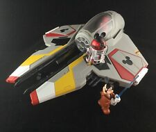 Disney Parks Star Wars Star Tours Jedi Mickey's Starfighter With R2-Mk Complete!