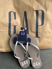 Gap Women's Flip Flops US size 6 with Mocha Brown with White GAP Logo) Original