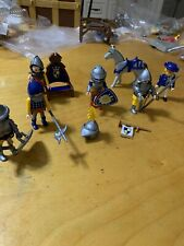 Playmobil  6 Knights blue & yellow horse & chair P98