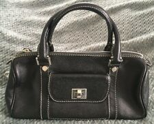 7b3a2f0a24 RAFE New York Black Saffiano Textured Leather Satchel Purse Bag-Made in  Italy