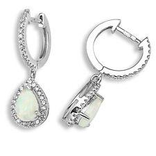 Snap Closure 18 Carat Drop/Dangle White Gold Fine Earrings