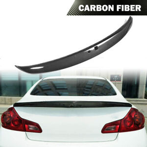 Carbon Fiber Rear Spoiler Trunk Wing Fit For Infiniti G25 G35 G37 Sedan 2006-15