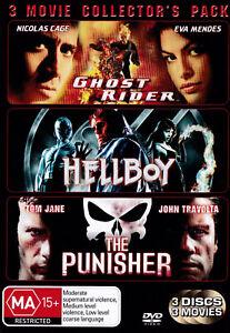 GHOST RIDER / HELLBOY / THE PUNISHER 3 Movie Collection DVD R4 - PAL   SIrH70