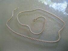 "Men's Titanium Steel Circle  Chain Necklace  22"""