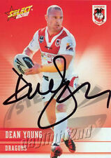 ✺Signed✺ 2012 ST GEORGE ILLAWARRA DRAGONS NRL Card DEAN YOUNG