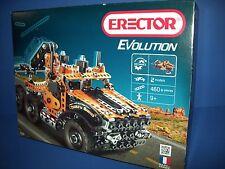 Erector EVOLUTON - TOW TRUCK - 2 models 460pc Meccano Metal building toy  NISB