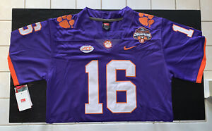 Trevor Lawrence Jersey Clemson Tigers Purple 2018 National Champions Size Medium