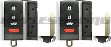 2x Keyless Entry Remote Key Shell Case Cover for Acura ILX RDX TL ZDX M3N5WY8145