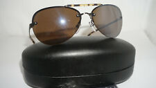John Varvatos Sunglasses New Aviator Taupe Mirror Brown V797 59 14 135