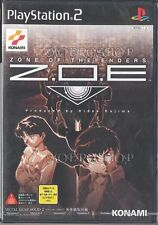 PS2 Z.O.E Zone of the enders metal gear solid demo Japan