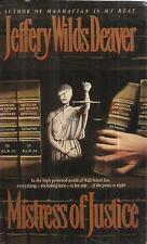 JEFFERY WILDS DEAVER MISTRESS OF JUSTICE