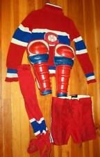 Vintage 1950's Montreal Canadiens Youth Uniform Sweater Knee Pads Hockey Pants!